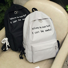 72ef41ec67 Buy fashion black backpack printed letters and get free shipping on  AliExpress.com