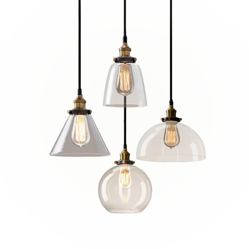 Loft RH Vintage կախազարդ լույսեր ապակե - Ներքին լուսավորություն - Լուսանկար 2