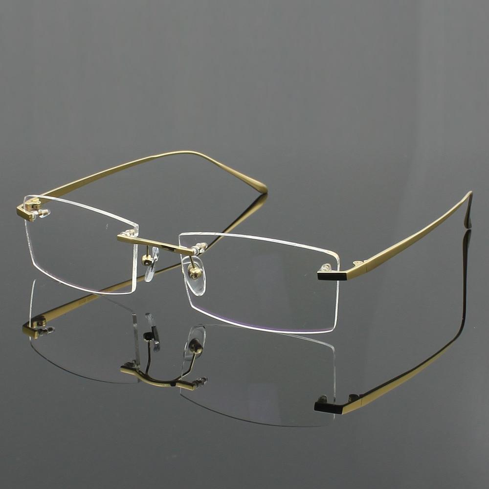 Optical Glasses Accessories : 100% Pure titanium Mens eyeglasses frame optical glasses ...