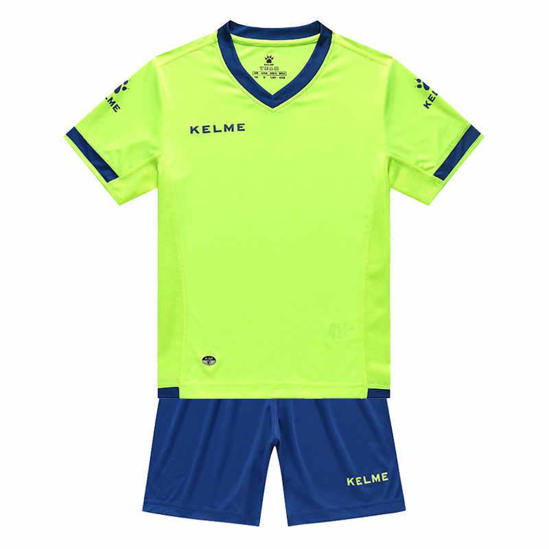 قمصان قصيرة بأكمام قصيرة للتدريب مخصصة لفريق كرة القدم من KELME كيدز لرياضة كرة القدم عالية الجودة K15Z212C