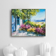 Laeacco Nordic Canvas Painting Calligraphy Posters and Prints Flower Garden Art Wall Pictures for Living Room Home Decoration стоимость