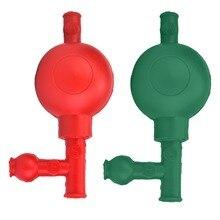 Lab Bulbo di Aspirazione In Gomma di Pressione di Sicurezza Quantitativa Pipetta Filler con 3 Valvole Rosso/Verde