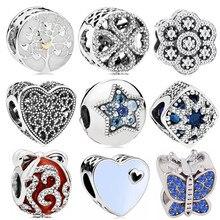 3213b46ab9ae Bricolaje nueva moda Vintage Punk manzana pequeña perro árbol amor corazones  flores cuentas encantos Pandora pulseras