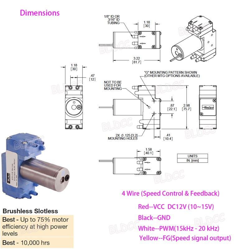 PARKER DC12V BLDC Dual Head Vacuum Diaphragm Pump DIY Breast Pump Oxygen  Pump FY | eBayeBay