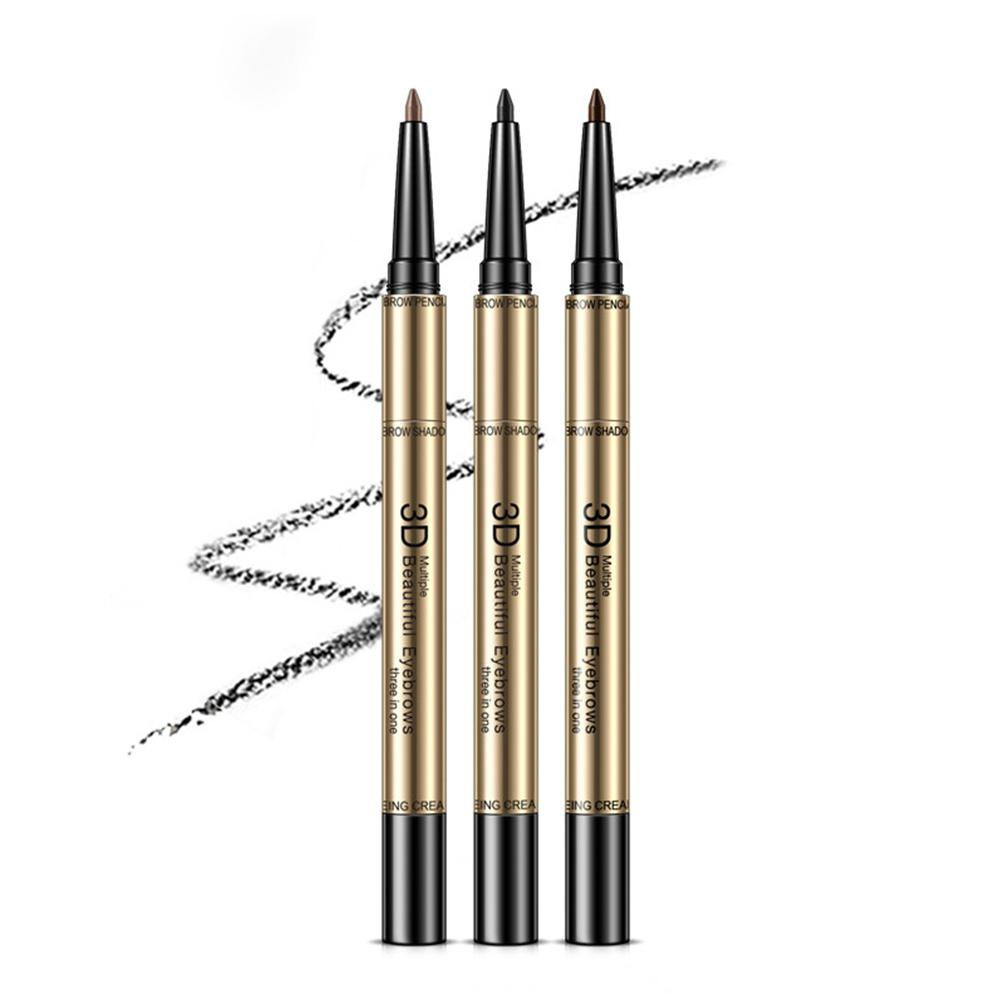 DSstyles 3 In 1 Eyebrow Tattoo Tint Pen Brow Makeup Enhancer Eyebrow <font><b>Pencil</b></font> Waterproof Long-lasting Natural Makeup Cosmetics image