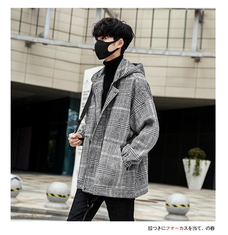 Male Long Coat Oversize Lapel Button Sobretodos Hombre Overcoat Streetwear (22)