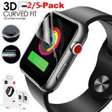 5 шт ультра-тонкий 3D гидрогель пленка анти-шок покрытия защитной Экран Защитная пленка для Apple Watch 1/2/3 для наручных часов iWatch 38 мм 42 мм