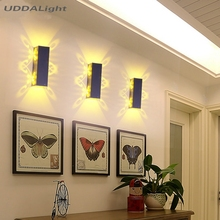 Aluminum led light fixture Up and down led wall lamp batteryfly modern fashion wall light indoor(China)