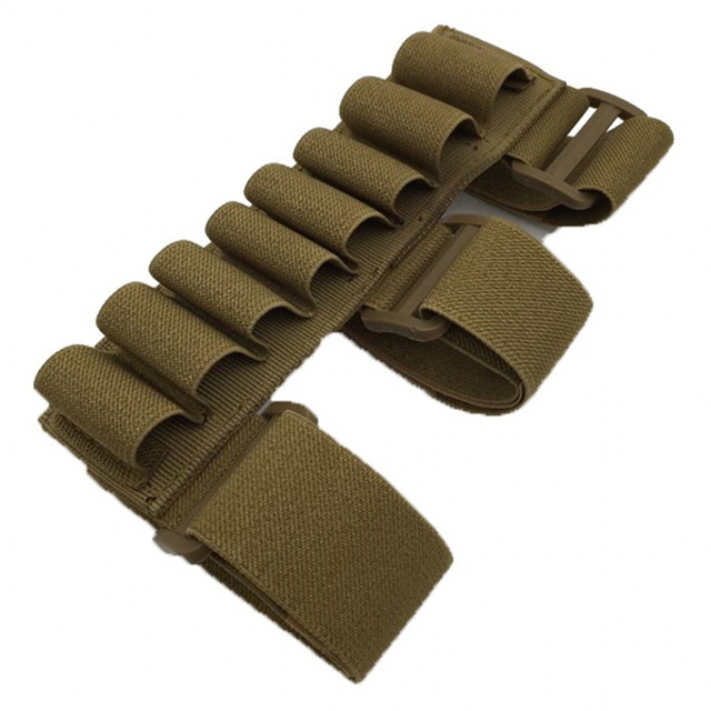 CQC Tactical Buttstock 8 Round 12 Gauge 12GA Ammo Bullet Shell Holder Bag Airsoft Paintball Shooting Hunting Belt Mag Pouch 5
