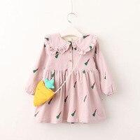 Brand ChanJoyCC Hot Sale Baby Girl S Princess Autumn Winter Doll Dress New Girl S Carrot