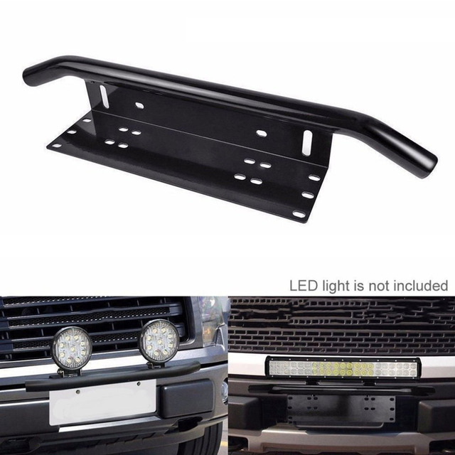 Easy installation license number plate frame holder light bar easy installation license number plate frame holder light bar mount front bumper for offroad truck vehicle mozeypictures Image collections