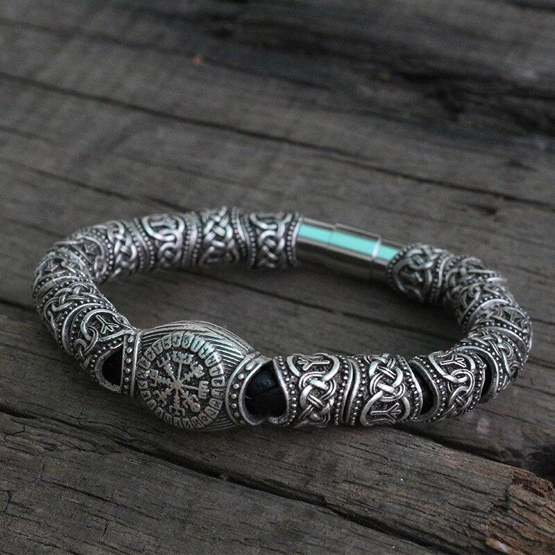 10 sztuk viking mężczyźni bransoletka w Plecione bransoletki od Biżuteria i akcesoria na  Grupa 1