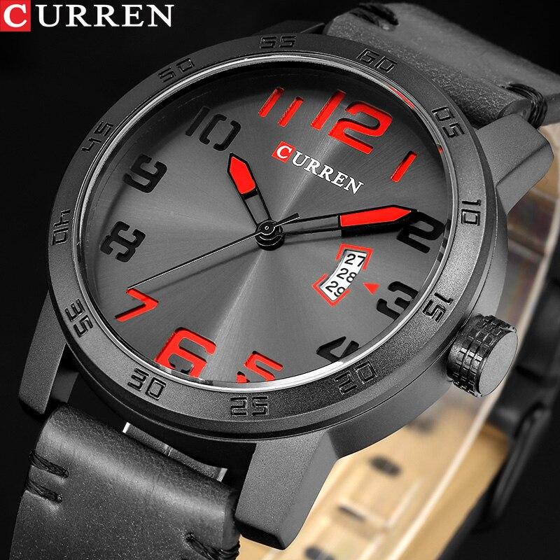 Новый роскошный бренд CURREN Мужские спортивные часы мужские кварцевые часы мужские армейские военные кожаные Наручные часы Relogio Masculino|masculino|masculinos relogiosmasculino watch | АлиЭкспресс