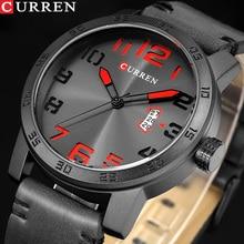NEW Luxury Brand CURREN Men Sport Watches Men's Quartz Clock Man Army Military Leather Wrist Watch Relogio Masculino