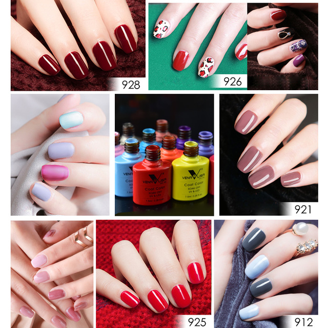 VENALISA Nail Gel Polish High Quality Nail Art Salon 60 Hot Sale Color 7.5ml VENALISA Soak off Organic UV LED Nail Gel Varnish 3