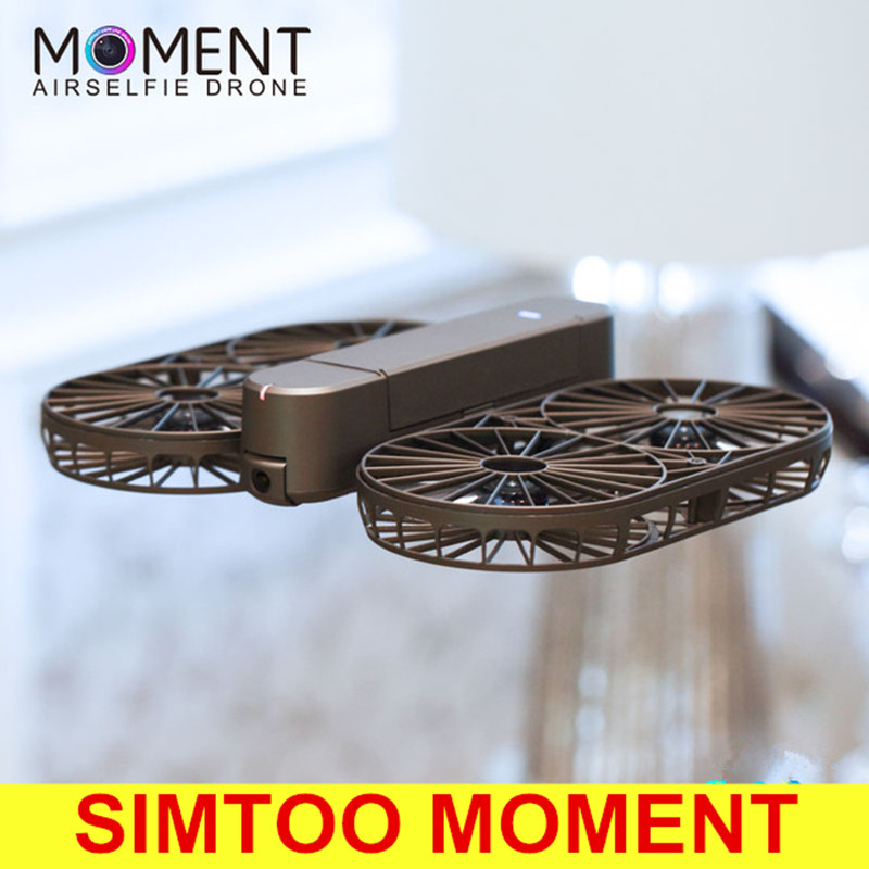 Original SIMTOO MOMENT Foldable Selfie Drone BNF WiFi FPV 12MP 4K UHD RC Quadcopter GPS GLONASS Optical Flow Camera Drone up air upair chase 5 8g fpv 12mp rc quadcopter