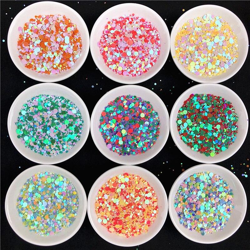 Venta al por mayor 1 KG colores mezclados lentejuelas de uñas Multi tamaño 1 4mm puntos flojos lentejuelas Paillettes para manicura, carnaval confeti de boda-in lentejuelas from Hogar y Mascotas    1