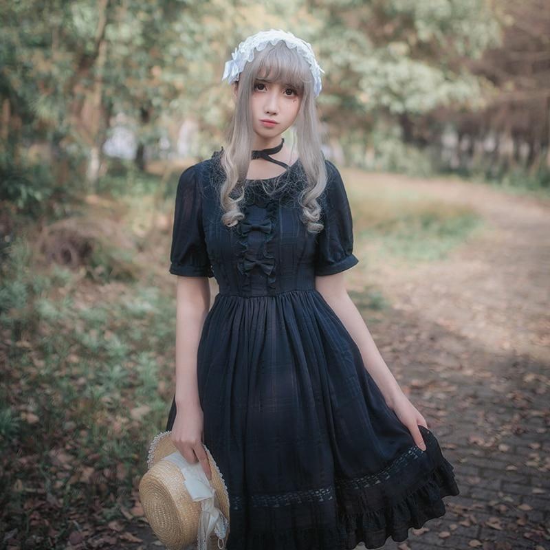 217a7531f50bf Princesse Sweet Soie Bande De Jardin Seule Dentelle Pièce Noir Croix Mince  Gothique Mariée D une blanc Mousseline Robe ...