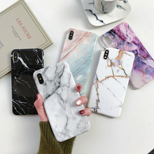 Etui we wzór marmuru na Coque iphone 11 Pro Max 7 XS MAX etui miękkie etui tpu na tył telefonu dla iphone 6 6S 7 8 Plus iphone X XR skrzynki pokrywa tanie tanio Syruan Geometryczne Aneks Skrzynki Marble Case Wodoodporna Odporna na brud Heavy Duty Ochrony Anti-knock Apple iphone ów