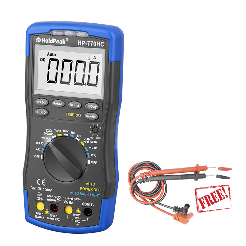 HP-770HC Digital Multimeter tester digital multimetro 1000V multimetr Resistance Tester digital voltmeter ammeter esr meter цена