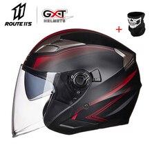GXT мотоциклетный шлем, закрывающий половину лица ABS мотоциклетный шлем Электрическая безопасность двойные линзы шлем мото шлем для женщин/мужчин Casco Moto #