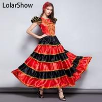 Flamengo Dance Dress Spanish Costumes Flamenco Skirt Spanish Dancer Dress Spodnica