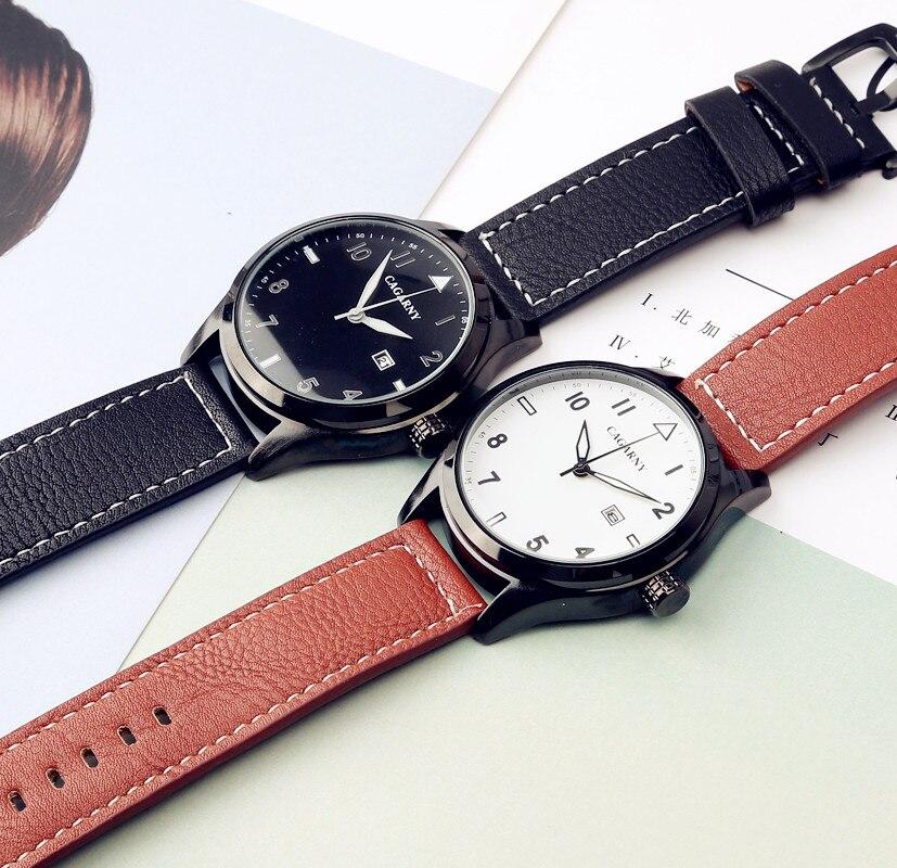 2017 CAGARNY Mote Hot Herreklokker Topp Merker Luksus Leather Vintage - Herreklokker - Bilde 5