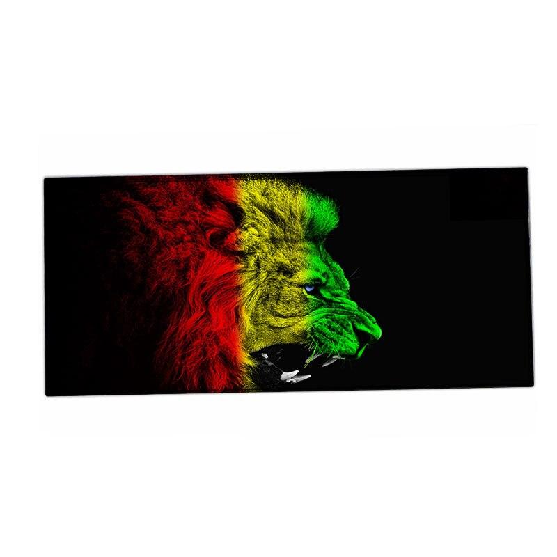 Животных Тигр Дизайн 900*400 мм резиновая Управление игры Мышь Pad Коврики большой Extended для MAC/Dota 2 /GTA 5