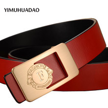 New Style Real Leather-based Belts for Males Luxurious Model prime quality feminine belt Denims Prime Male Letter buckle Clothes for ladies