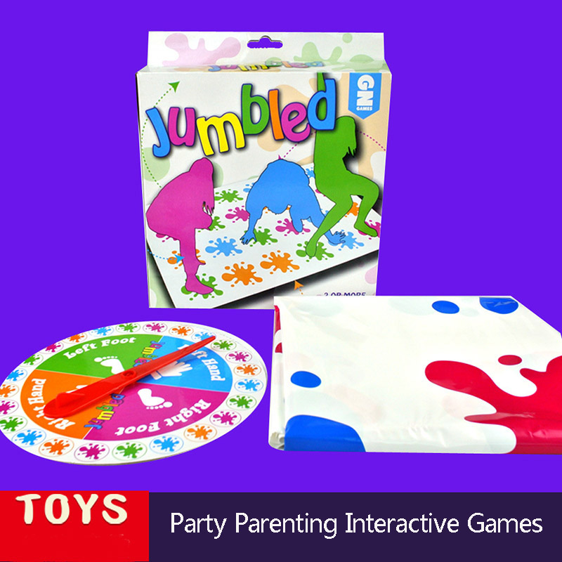 60x110cm Twister Move Game For 2-6 players Classic Family Friend Play Mat Twisting Body Interactive Sports Toys For ChildrenA143