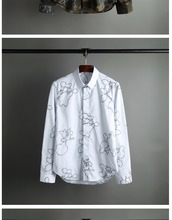 Classic  long sleeve men's shirts and high-end business no-iron shirt N39
