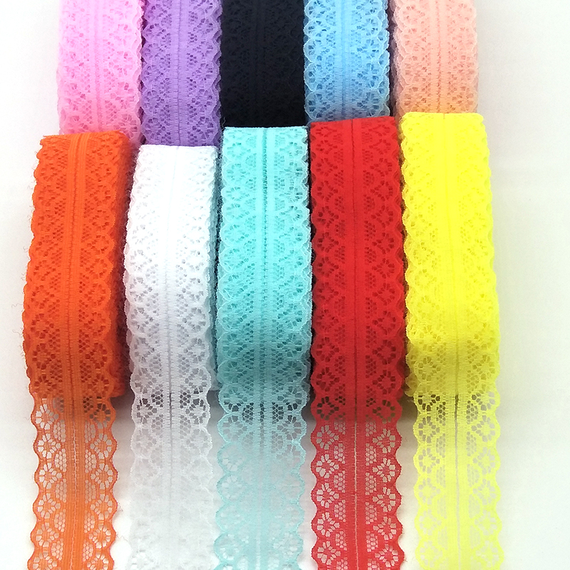 17 colors 10 yards net embroidery lace ribbon lace bilateral free shipping