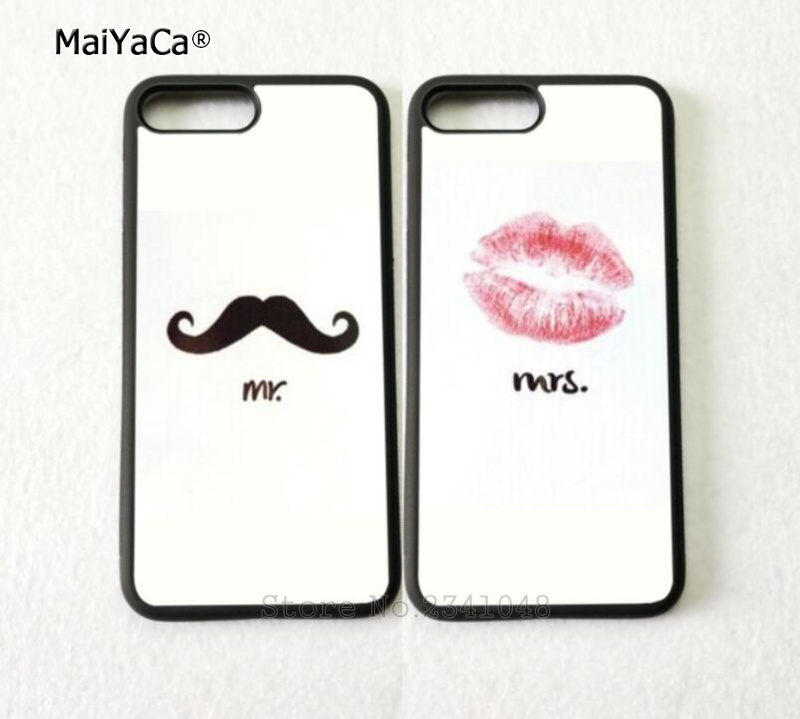 His and Hers Mr. and Mrs.best friends soft phone cases for iphone 5s se 6 6s plus 7 7plus 8 8plus X XR XS MAX TPU cover case