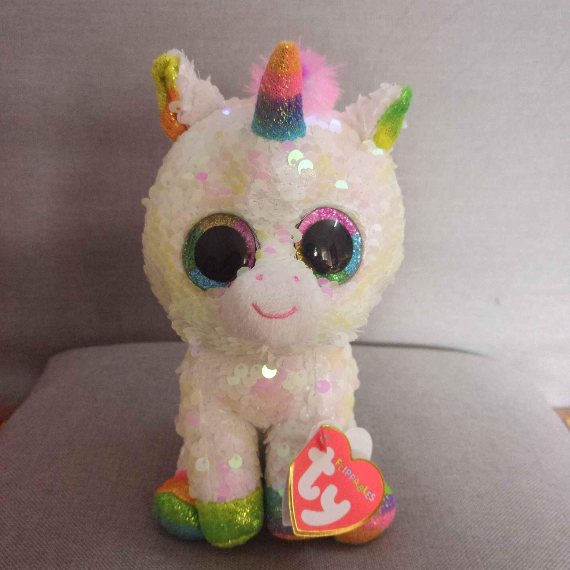 """Ty Vaias Gorro 6 """"15 centímetros grandes olhos lantejoulas preguiça chihuahua coelho unicórnio série animal de pelúcia macia boneca de brinquedo juguetes"""