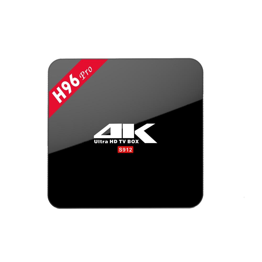 H96 Pro Android 6.0 TV Box S912 Octa-Core CPU 2G 16G Dual Band WIFI Gigabit LAN Bluetooth 4K 60fps H265 3D/HDD TF IPTV Smart TV
