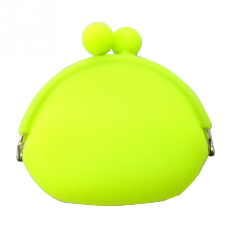 Silicone Coin Purse For Girls Candy Color Round Small Portable Women Lady Card Key Holder Bag Wallet For Coins Porte Monnaie
