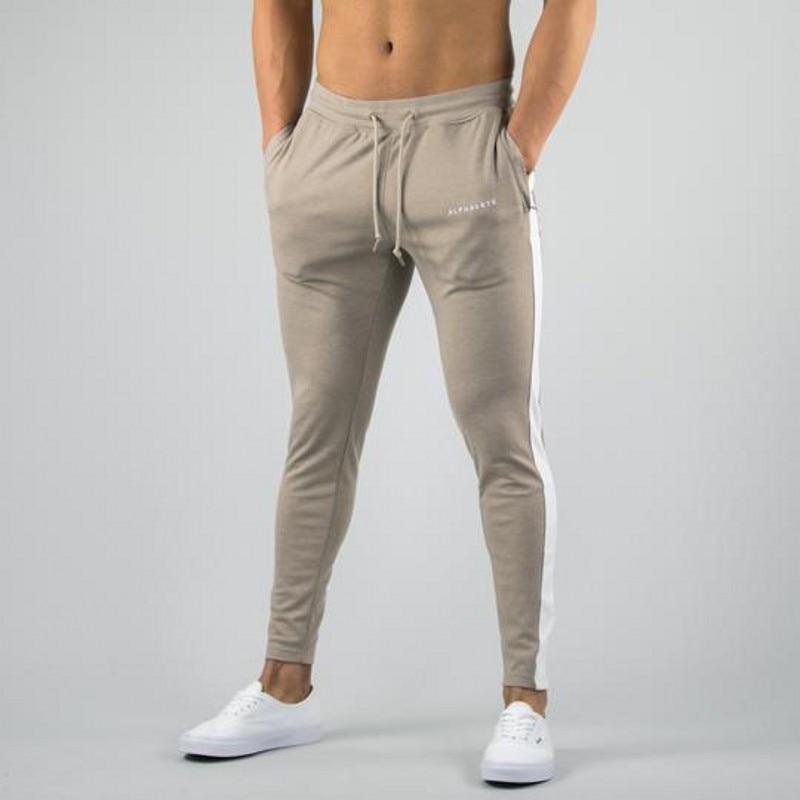 Alphalete Brand Autumn Winter Fitness Men Gyms Pants Fashion Cotton Pencil Pants Bodybuilding Trousers High Quality Jogger Pants