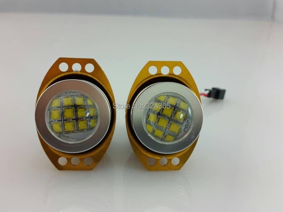 ФОТО 10 sets Arrival Xenon White Angel Eyes E90  XBD 60W 12-24V Car Fog Light LED Marker Fit For E90/E91