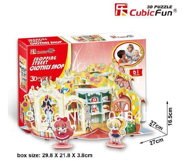 ОДЕЖДА МАГАЗИН CubicFun 3D образовательные головоломка Бумаги и EPS Модель Бумажного Главная Украшение для подарка рождества