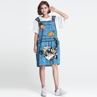 Tafforda 2018 New Fashion Tide Brand Printing Beads Piece Two Sets Of Bib Trousers In The