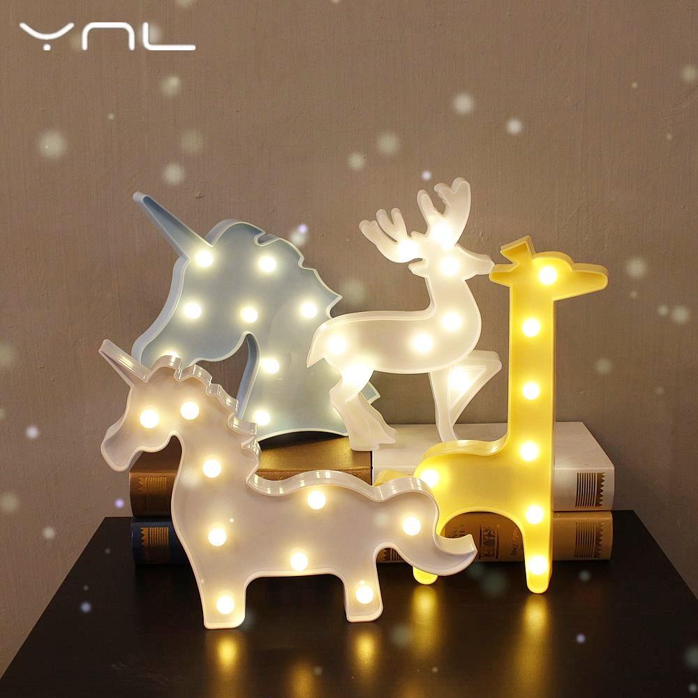 Noel dekor 3D LED Gece Lambası ağacı Flamingo Kaktüs Melek - Gece Lambası - Fotoğraf 2