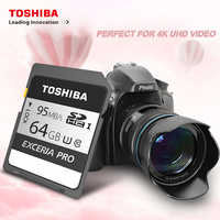100% Original TOSHIBA EXCERIA PRO N401 memory card UP to 95MB/s 32GB 64GB sd card class 10 for SLR camera