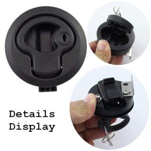 Image 4 - 2 PCS 2 Plastic Black Locking lift handle Flush Boat Latch Marine Boat Round Deck Lock with key for Boat Yacht RV Accessories