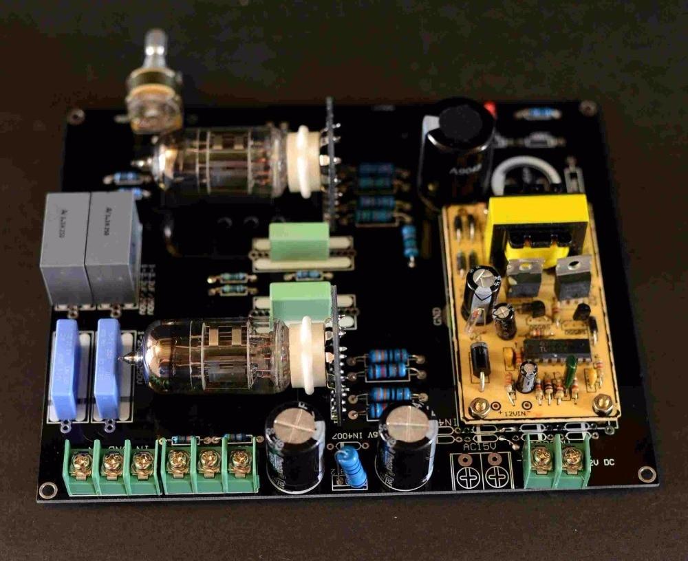 DC12V 車/ホームオーディオ 6N4 真空管プリアンプ HiFi マティスプリアンプボード  グループ上の 家電製品 からの アンプ の中 1