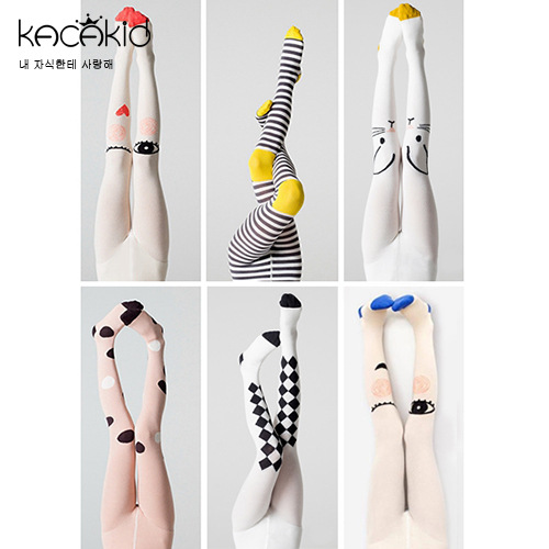 KACAKID Children Tights Pantyhose Dots Stripe Cute Baby Girls Pantyhose Tights Cotton Anti-slip Children Girls Pantyhose  Ka1120