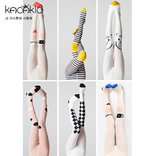 KACAKID Children Stockings  Pattern Unisex Baby Cotton Anti-slip Girl Boy Stocking ka1120