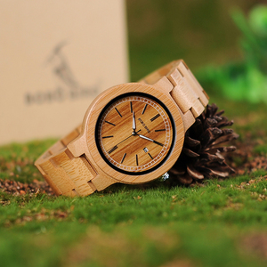 Image 3 - BOBO BIRD LP23 Drop Shipping Designer Bamboo Wooden Watches Men with Stainless Steel Clasp Quartz Relogio in Box
