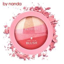 3 Colors BY NANDA Baked Blush Makeup Cosmetic Natural Baked Blusher Powder Palette Charming Cheek Color Make Up Face Blush все цены