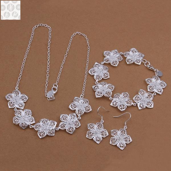 S450925 sterling silver jewelry set fashion jewelry set Bracelet Necklace Earring Ring
