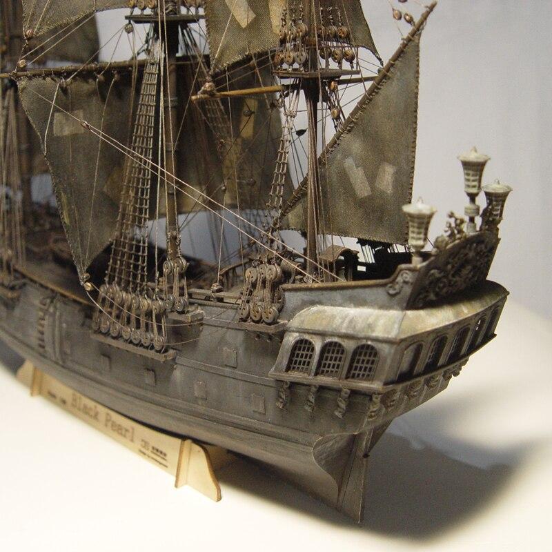 US $129 5 41% OFF|Wooden Ship Models Kits Black Pearl 1/96 Train Hobby  Scale Wooden Ship Model Boats 3d Laser Cut Diy Black Pearl Model Kit  pirata-in